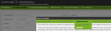 Capture2Proposal provides precise market intelligence for government contractors, such as descriptions, updates, & documents