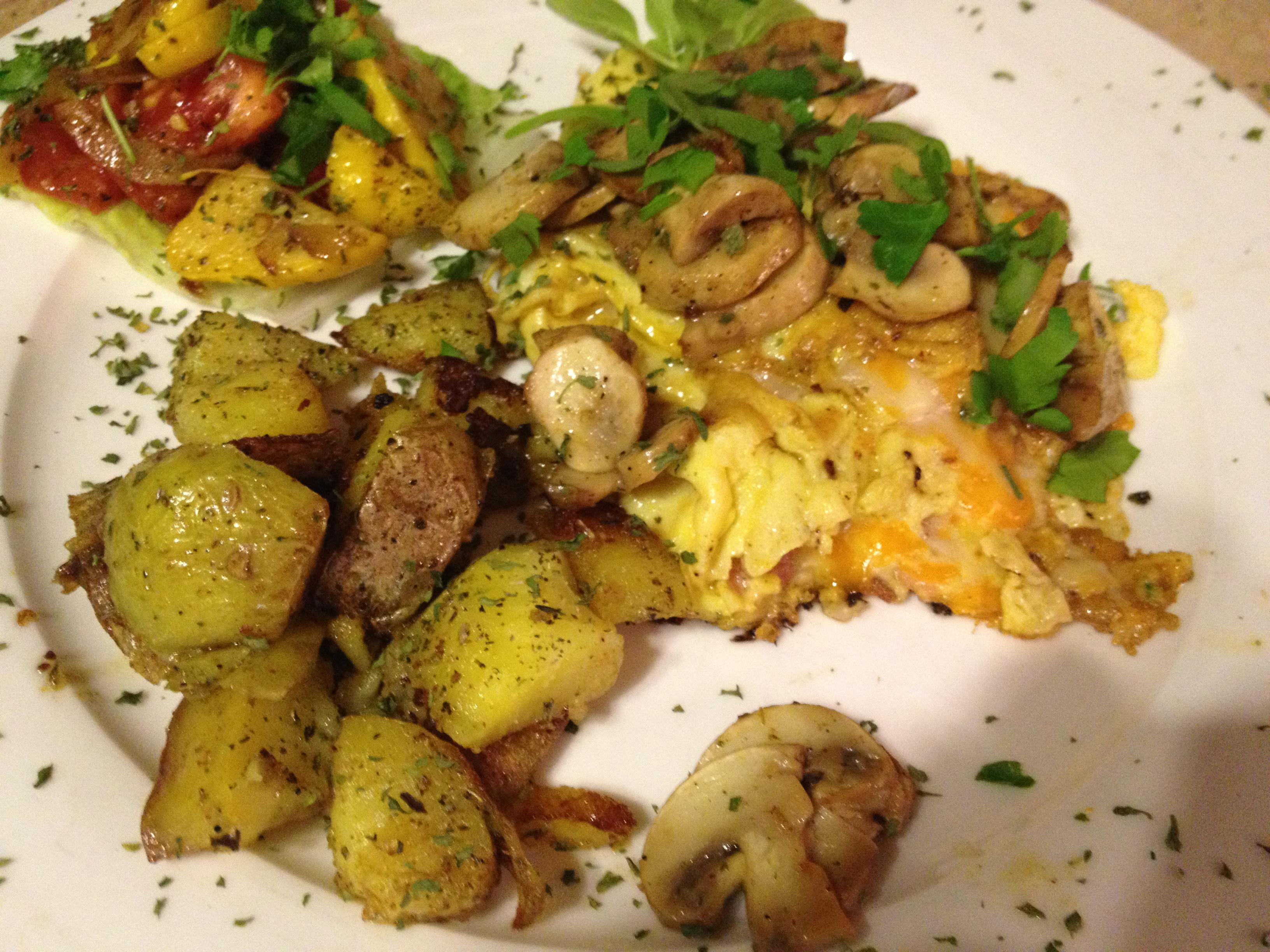 Bacon and Steak Mushroom Omelette