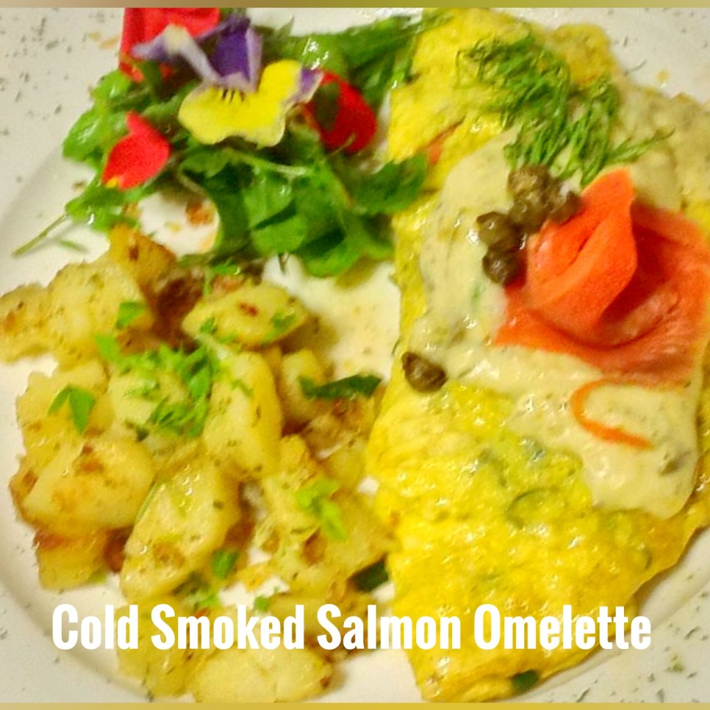 Cold Soked Salmon Omelette du fromage