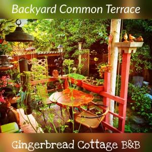 Gingerbread Cottage Victoria BC Canada Garden Terrace