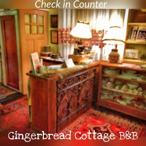 Check in Counter at the Gingerbread Cottage Victoria BC Canada