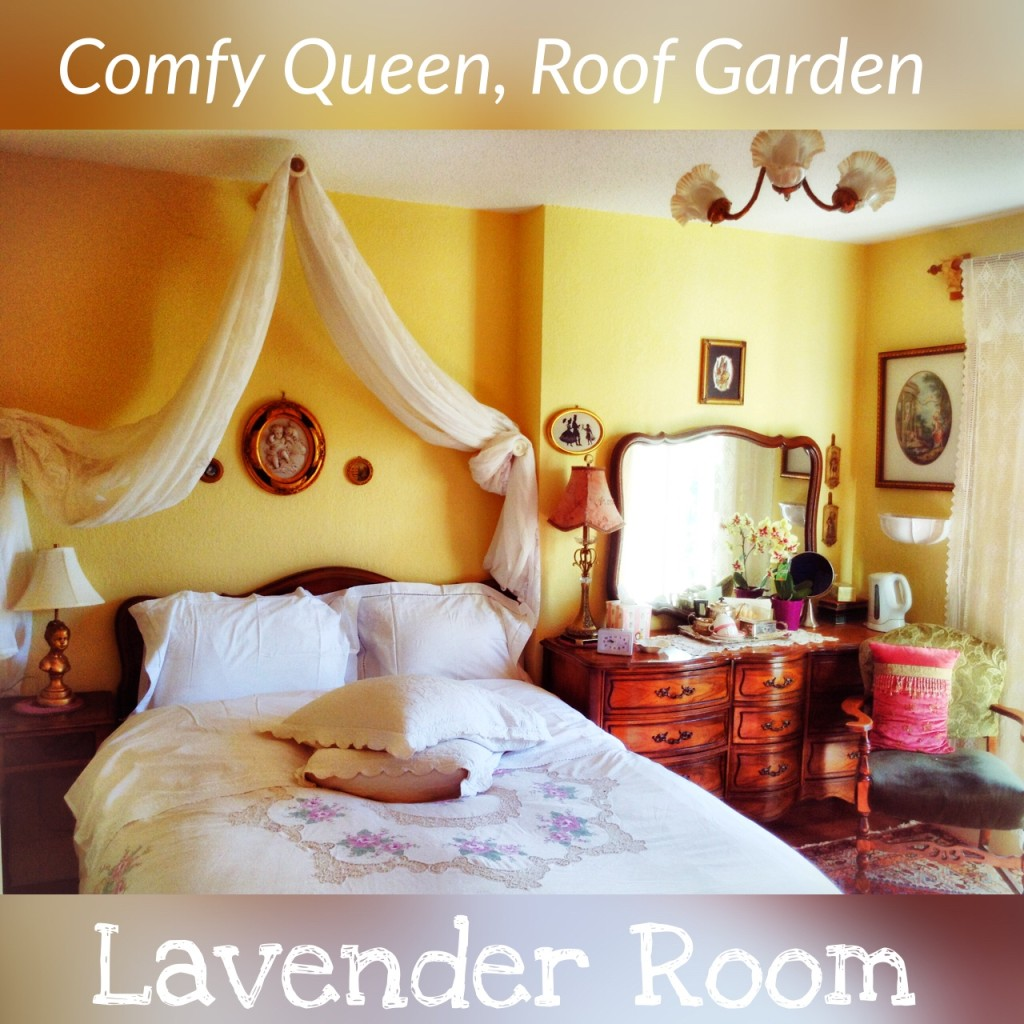 Victoria BC Canada Lodging Lavender Room Gingerbread Cottage Bed and Breakfast
