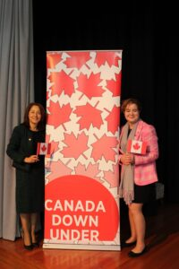 College Principal Mary Farah with the Deputy High Commissioner to Canada in Australia, Isabelle Martin