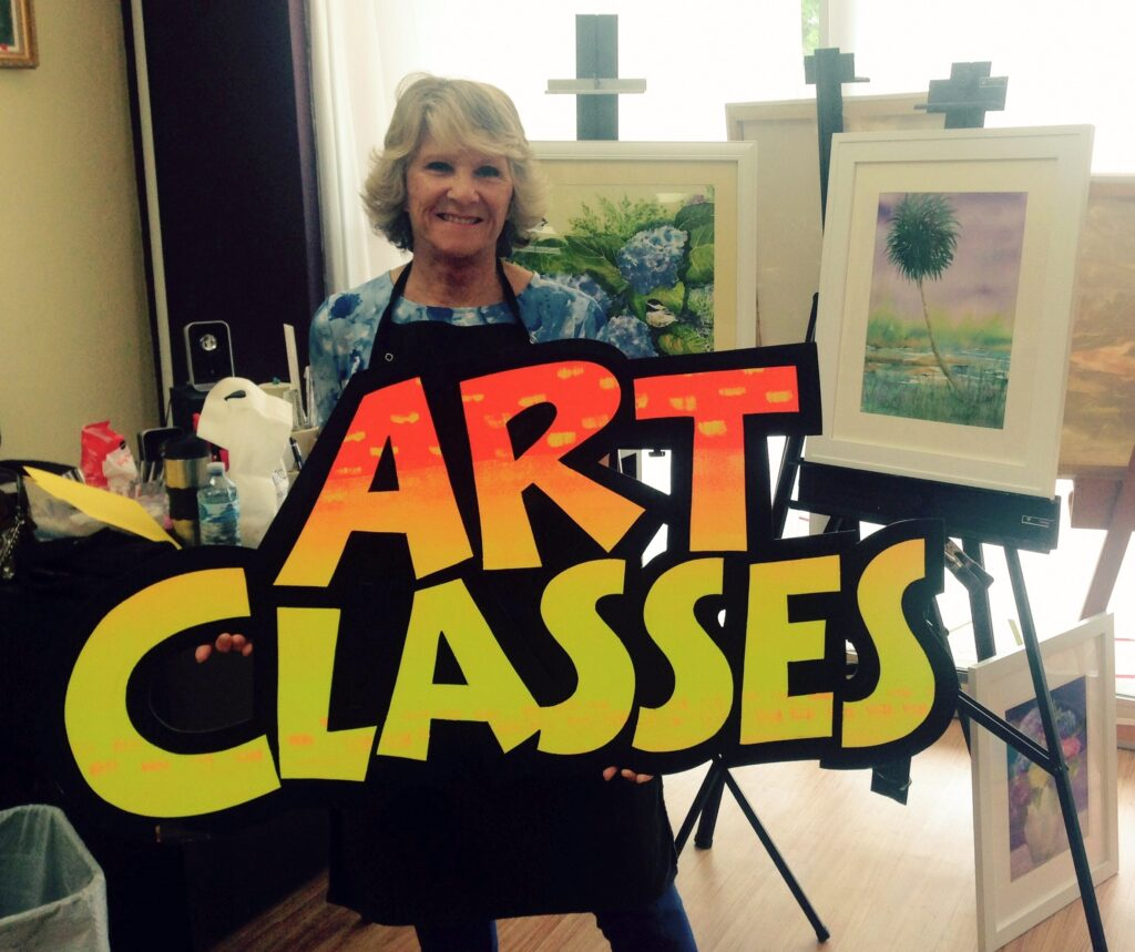 Join one of our many classes in the Artists' Nook Studio!