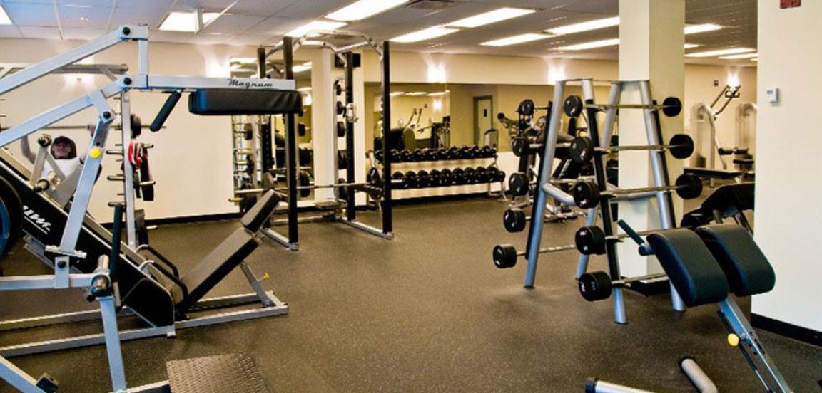 Gym facilites furnished office rental