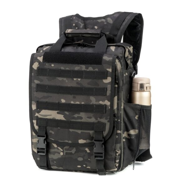 Black MultiCam Tactical Bulletproof Backpack