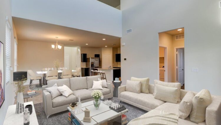 Living Rm in Phoenix Metro with High Ceilings