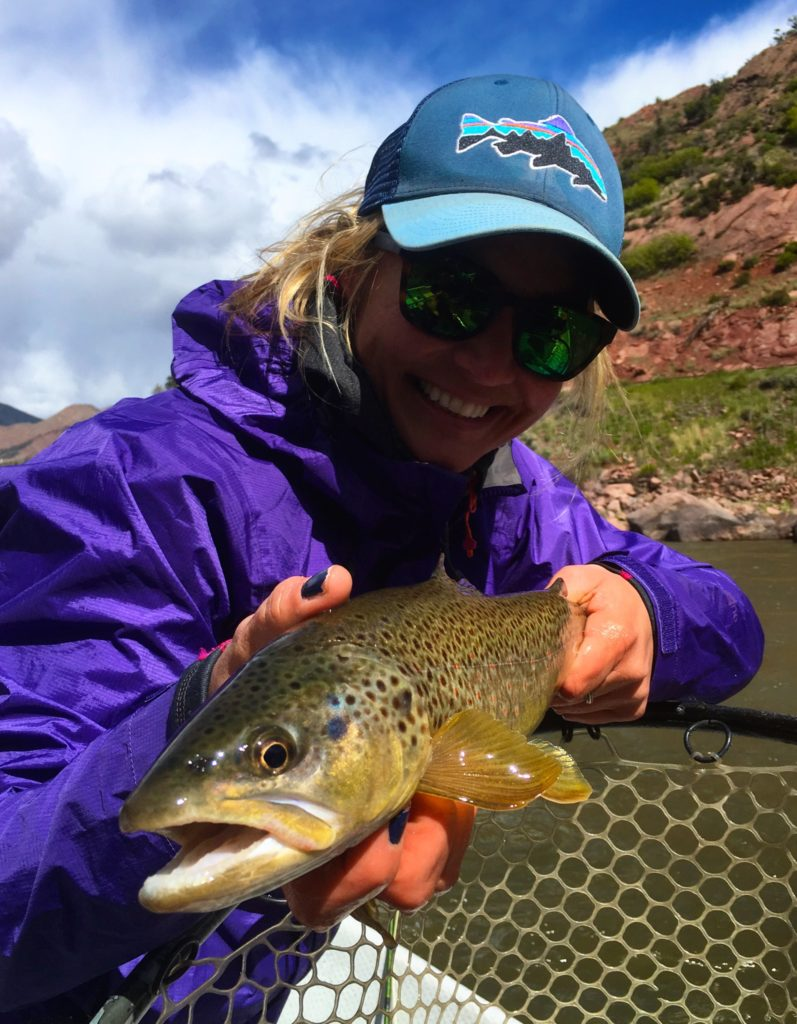 Woman Fishing for Brown Trout