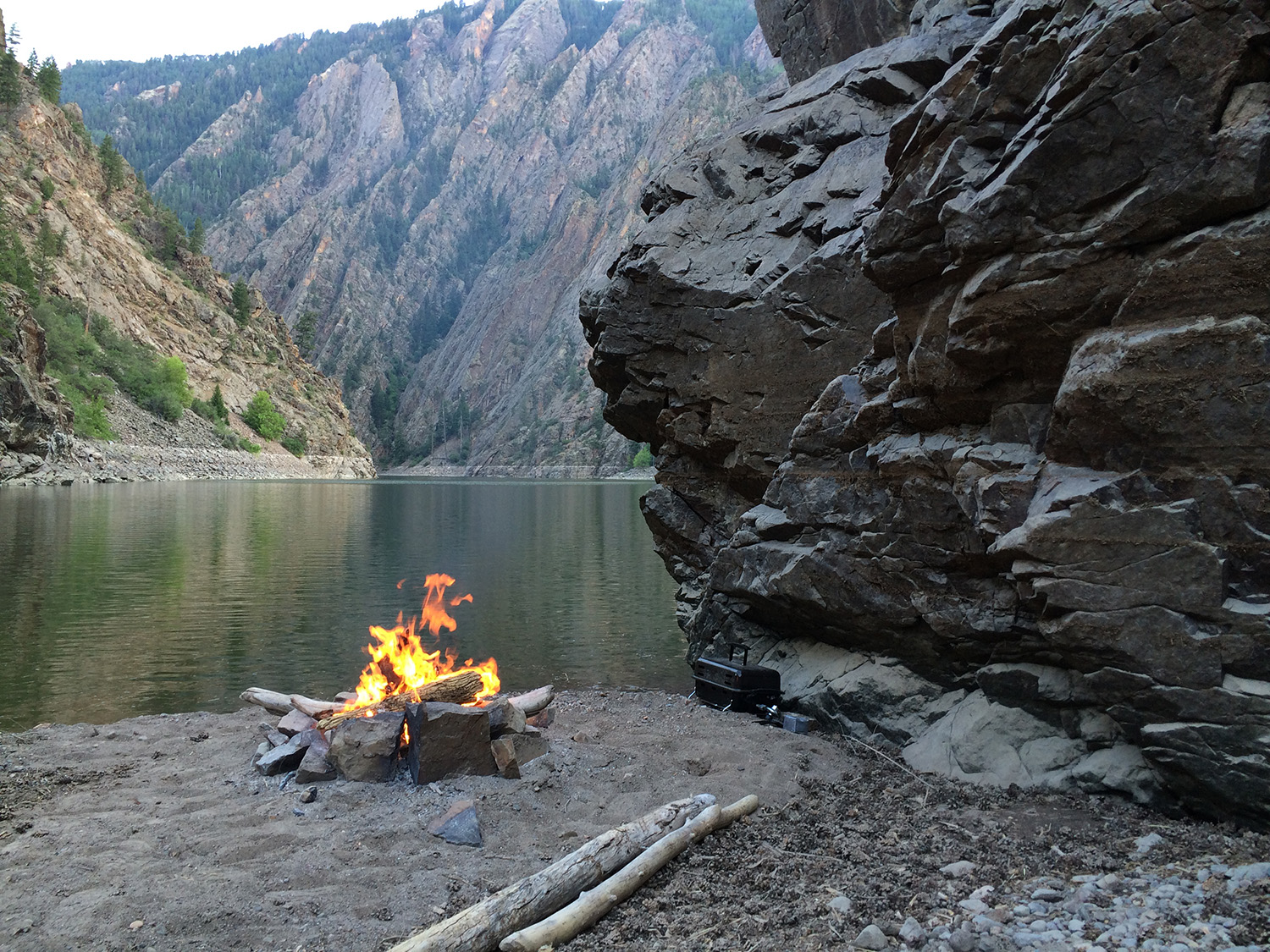 Campfire near Tailwater Ranch