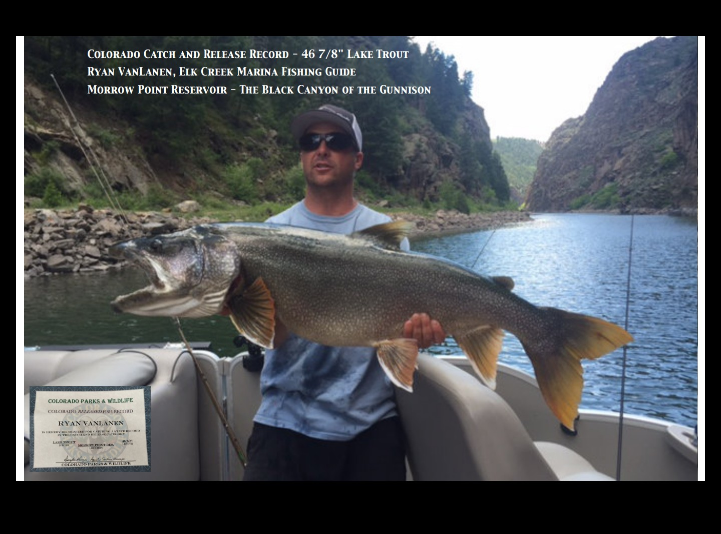 Colorado State Release Record at Morrow Point