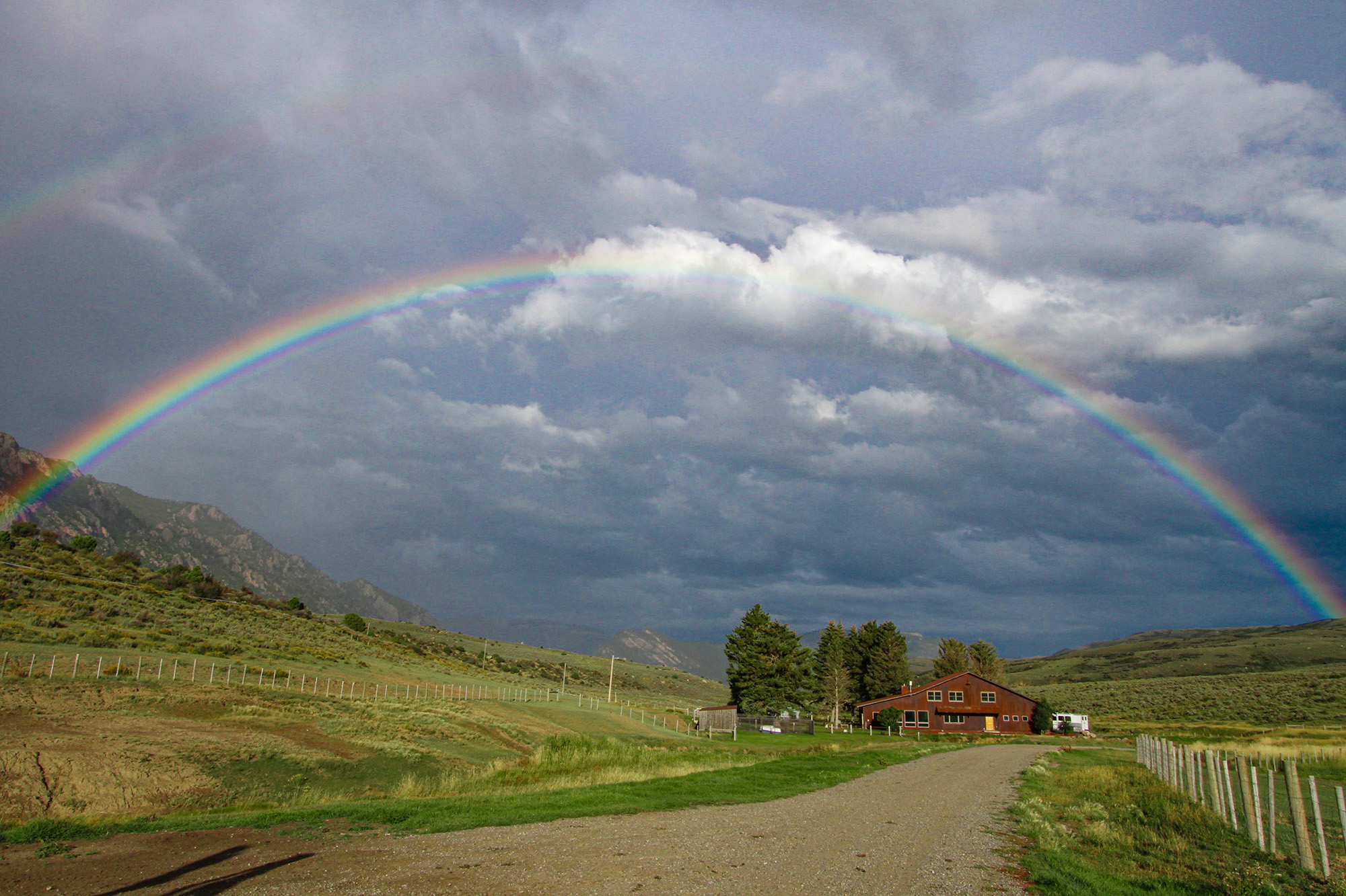 Colorado Ranch for Sale with Rainbow