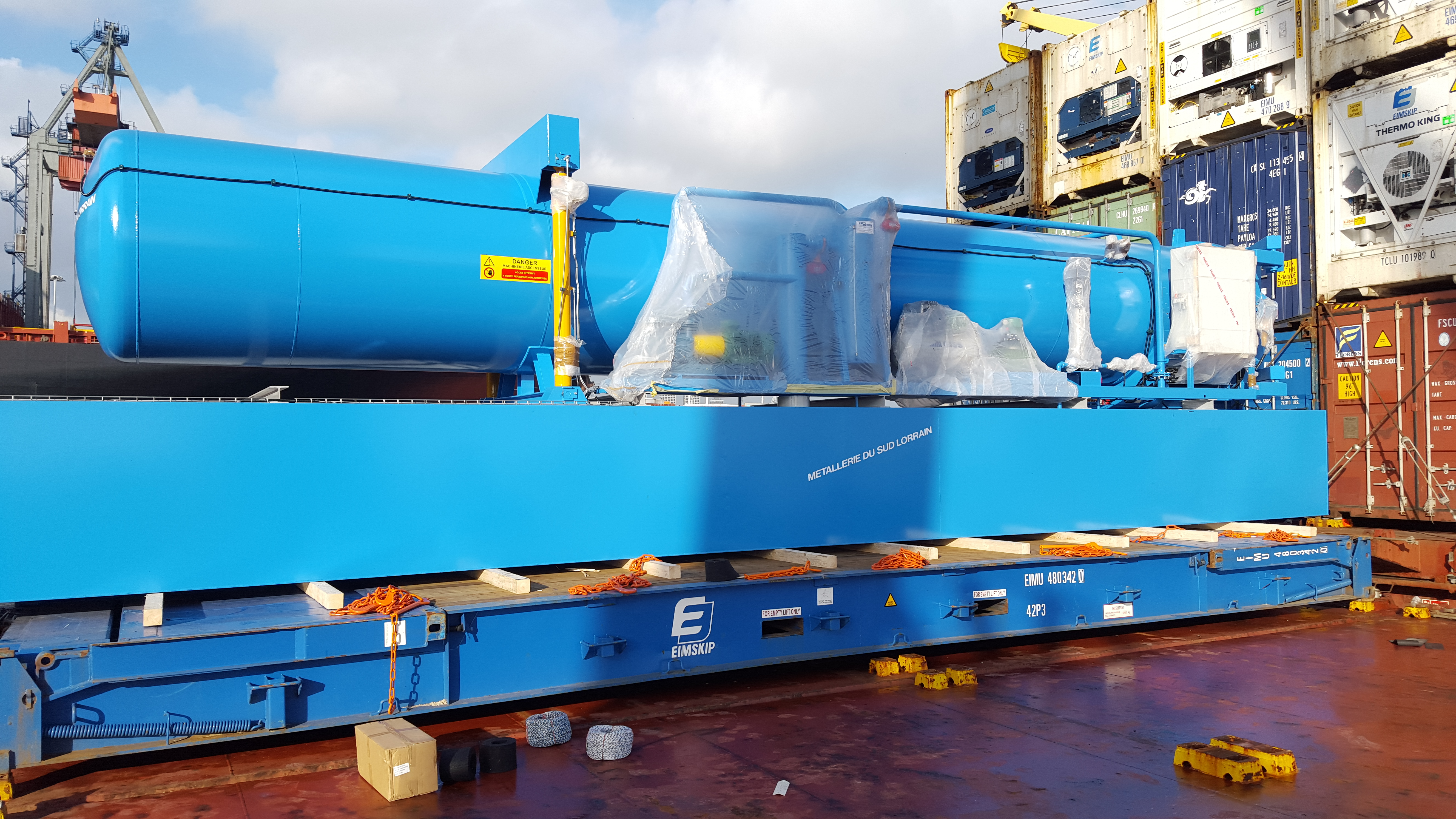 Turnkey plant as it arrives to you