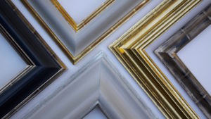Rich and Davis Hand-Made Frames with Water-Gilded Finishes- Silver, Moon Gold and 23K Gold
