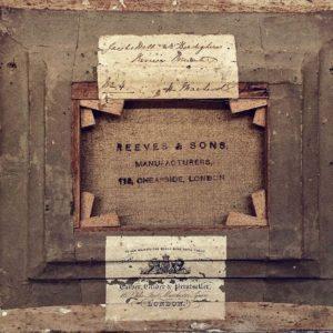 Rich and Davis antique frame Reeves and Sons London carver gilder printseller label