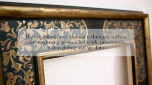Skilled in Traditional Techniques Gesso Engraving, Gesso Relief, Prezzemolo and Sgraffito