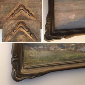 Rich and Davis antique picture frame and antique boxwood mould arts and crafts style