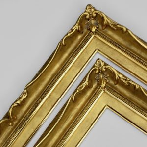 Rich and Davis Everett gold luxury ornamental custom picture frame