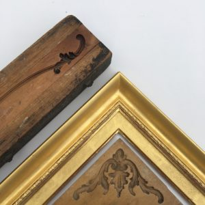 Rich and Davis antique box wood timber ornament moulds gold frame