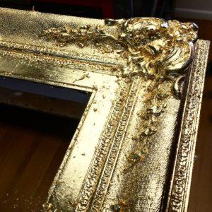 Rich and Davis custom frame gilded ornamental corner melbourne's best picture framer