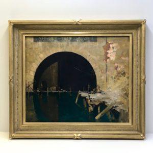 Sir Arthur Streeton Rich And Davis gold ornamental custom frame