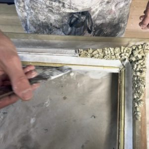 Picture frame restoration traditional gesso hand application