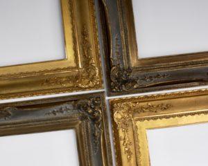 Rich & Davis McAlban and Sutton ornamental gold and Dutch metal custom frames