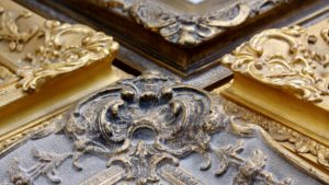 Rich and Davis ornamental gilded picture frames detail of corner ornament