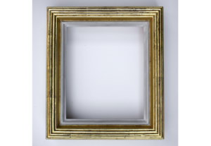 Rich and Davis gold reeded frame water gilded with white clay bole inner lip