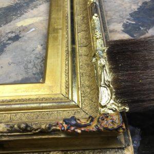 Rich and Davis Water-Gilt Repairs on Antique Frame Restoration