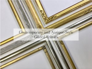 Contemporary and antique-style thin profile picture frames for framing prints and photographs