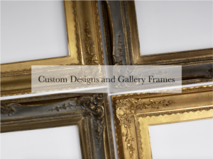 gold leaf and dutch metal gilded ornamental gallery and museum frames