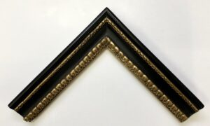 Carlo Maratta style picture number 2 frame with black clay bole and gold gilding