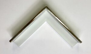 White gold water-gilded tray frame with white paint