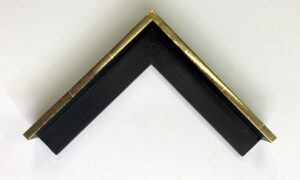 23k gold water-gilded tray frame with aniseed black paint
