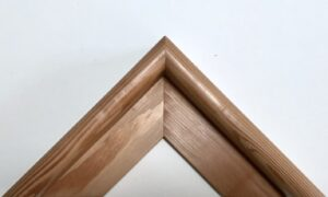 Reclaimed timber picture frame sample finished with wax