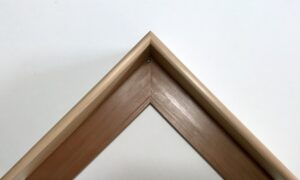 Reclaimed timber picture frame sample finished with wax tray frame