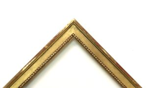 23K gold gilded small casetta frame with bead