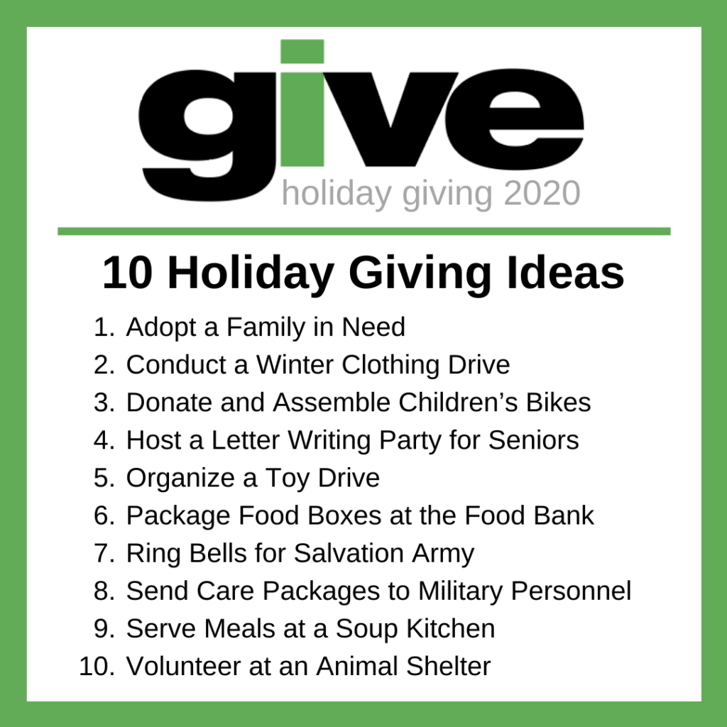 10 Holiday Giving Ideas