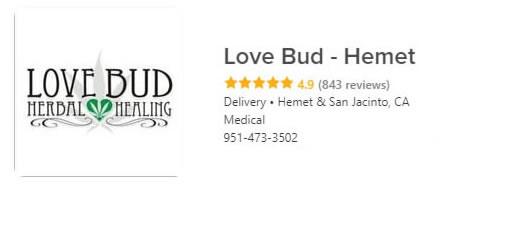 Lovebud Hemet Free weed delivery in Hemet and San Jacinto California
