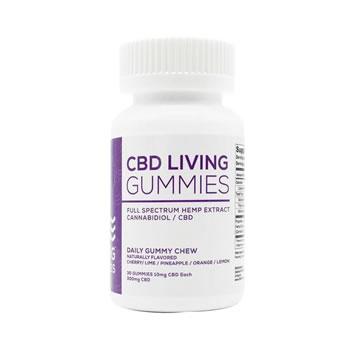 CBD Living Gummies Bottle 300mg