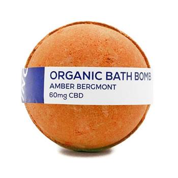 CBD Living Bath Bomb 60mg Amber Bergamont