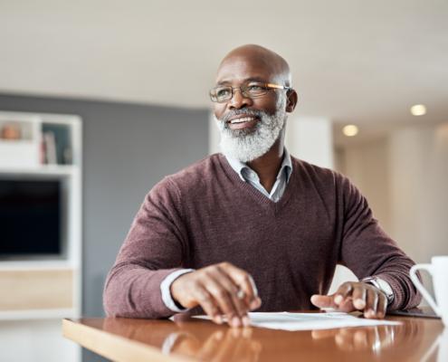 man planning for retirement