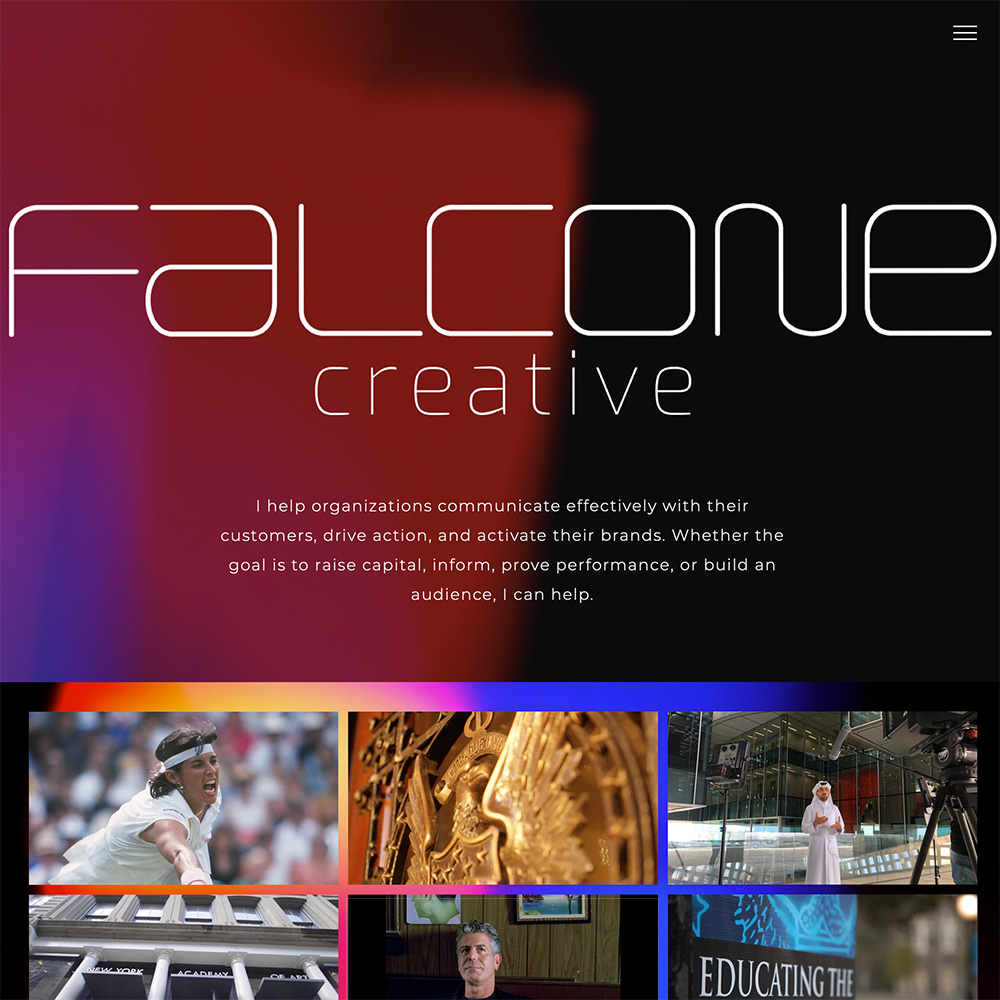 Falcone Creative – Web Development