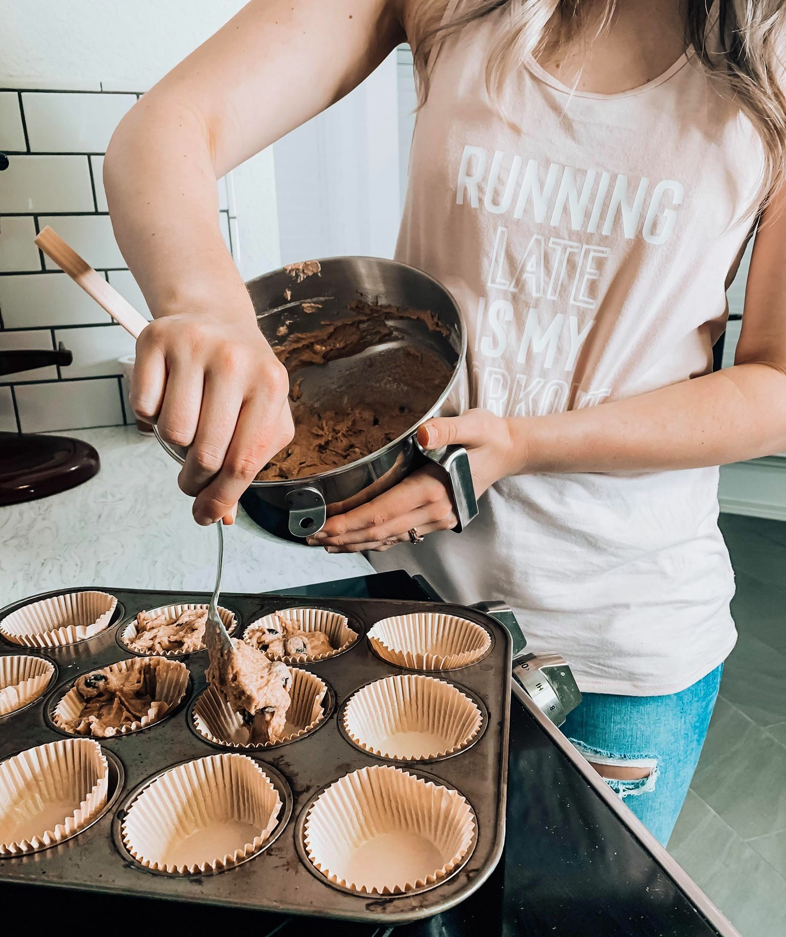 Healthy Blueberry Muffins- perfect for on the go breakfast