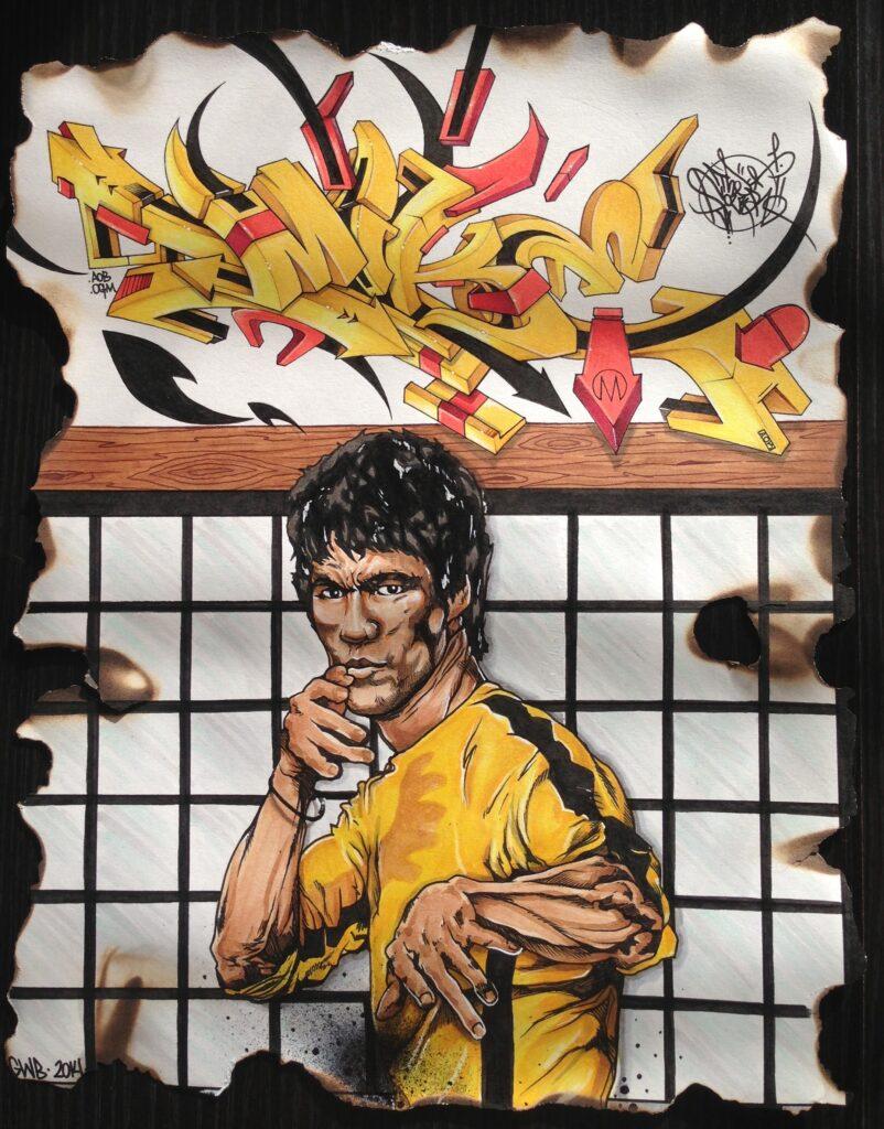 """Bruce Lee, """"Mike"""" in Blackbook, 2014."""
