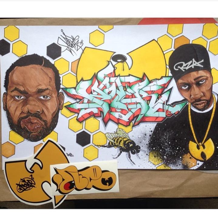 "Raekwon & The RZA of the Wu-Tang Clan,, Wu Bird, ""Nover"", Markers & Pen in Blackbook, 2015."