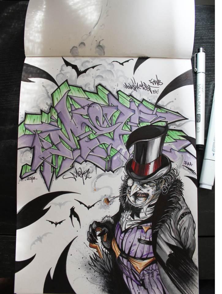 """The Penguin """"Nover"""" in Blackbook, 2012."""