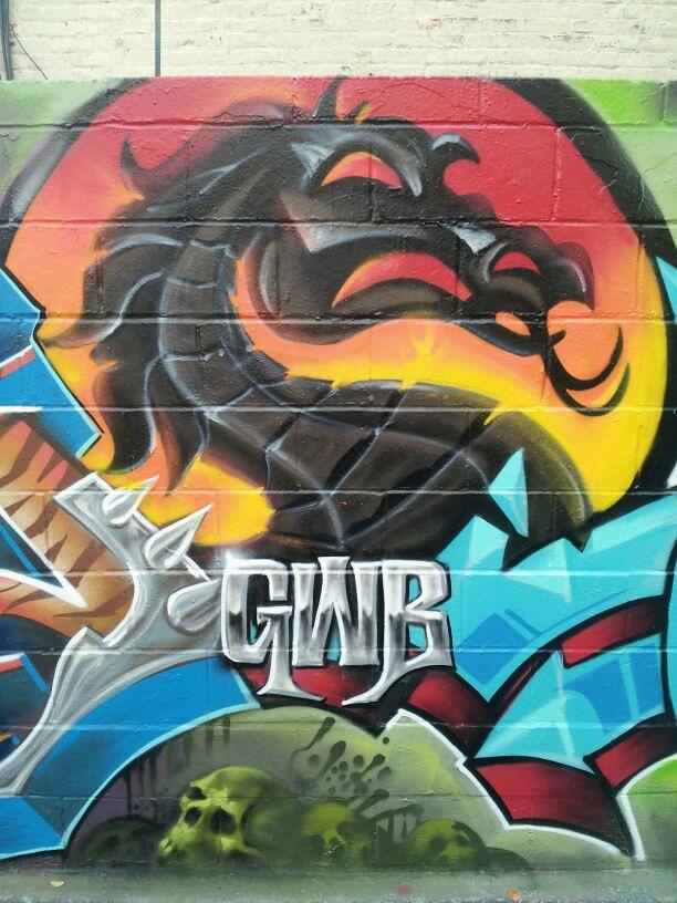 GWB, Dragon by Nover in Mortal Kombat Theme,  BT Lab. Bronx, NY 2014.