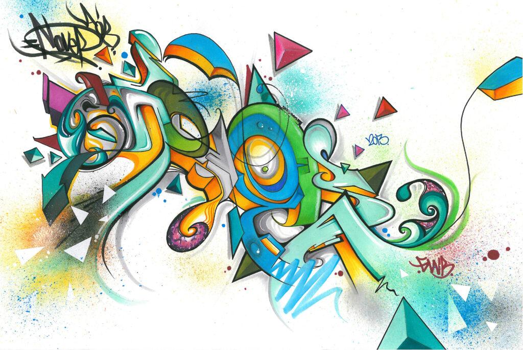 NOVER, Markers & Pen on Paper, 2013.