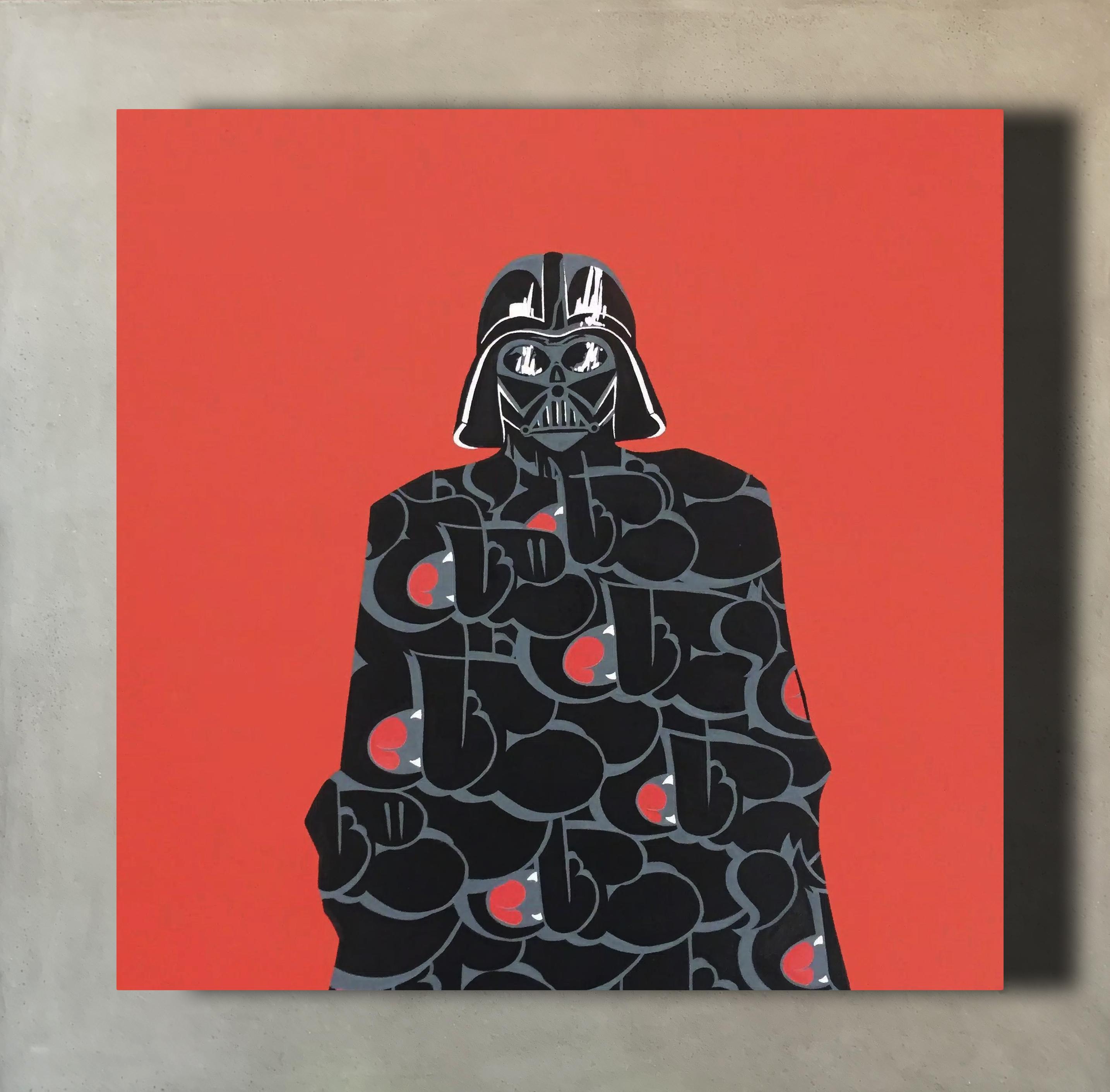 "Darth Vader x Nover, 24x24"" Acrylic on Canvas, 2016."